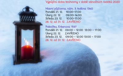 Výpůjční doba během Vánoc 2020